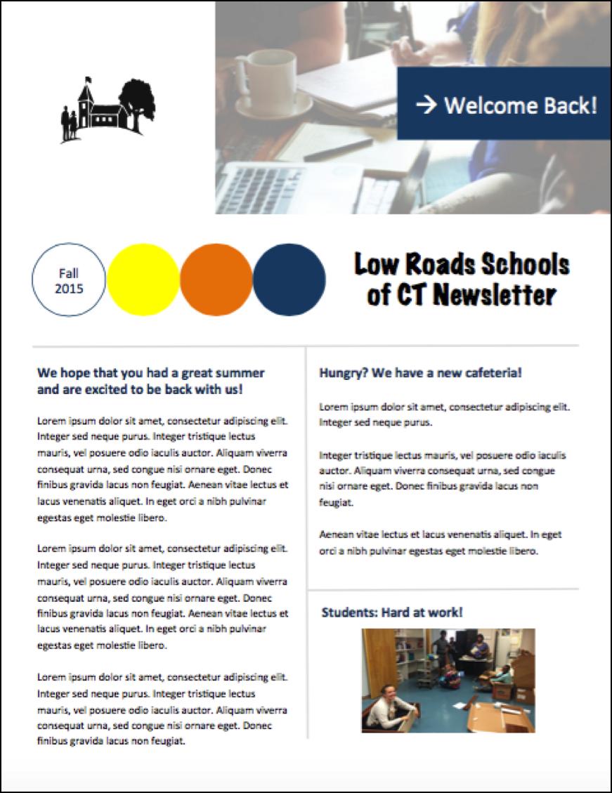 Erio Marketing Newsletter Template Print Design